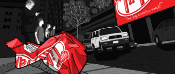 Litter on a Stick: comic about billboards