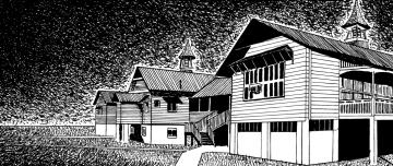 Drawing of Queensland high school building