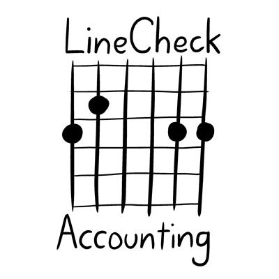 LineCheck Accounting logo - G chord guitar tab