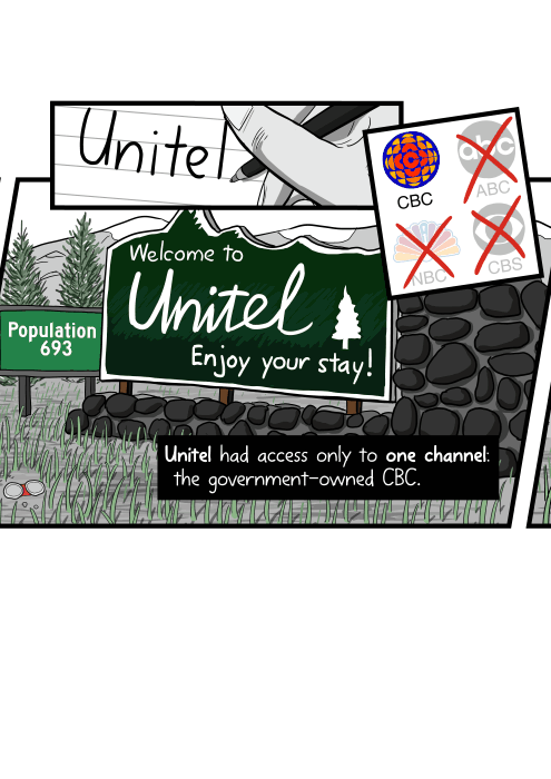 Unitel had access only to one channel: the government-owned CBC.