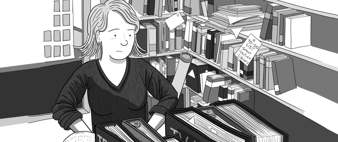Professor Tannis MacBeth Williams of University of British Columbia's Department of Psychology in her UBC office