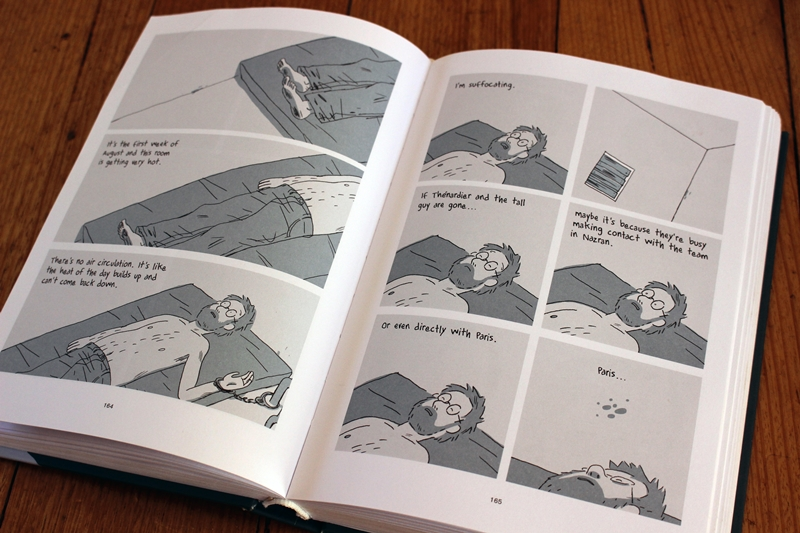 Pages from 'Hostage' by Guy Delisle - p165 - suffocating