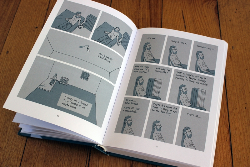 Pages from 'Hostage' by Guy Delisle - p51 - attached to a radiator