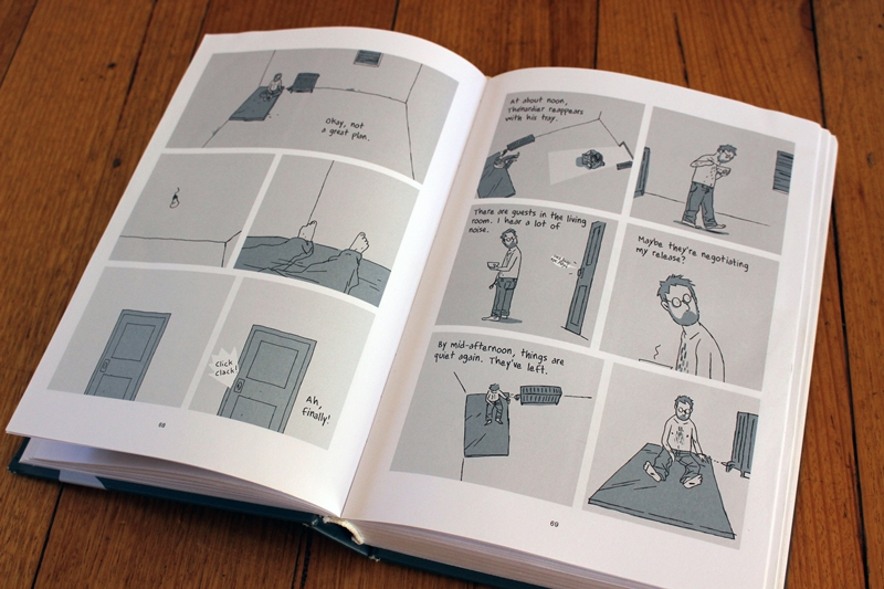 Pages from 'Hostage' by Guy Delisle - p69 - hearing noises through the wall