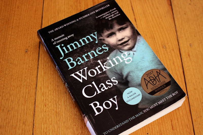 Jimmy Barnes - Working Class Boy - book cover on table
